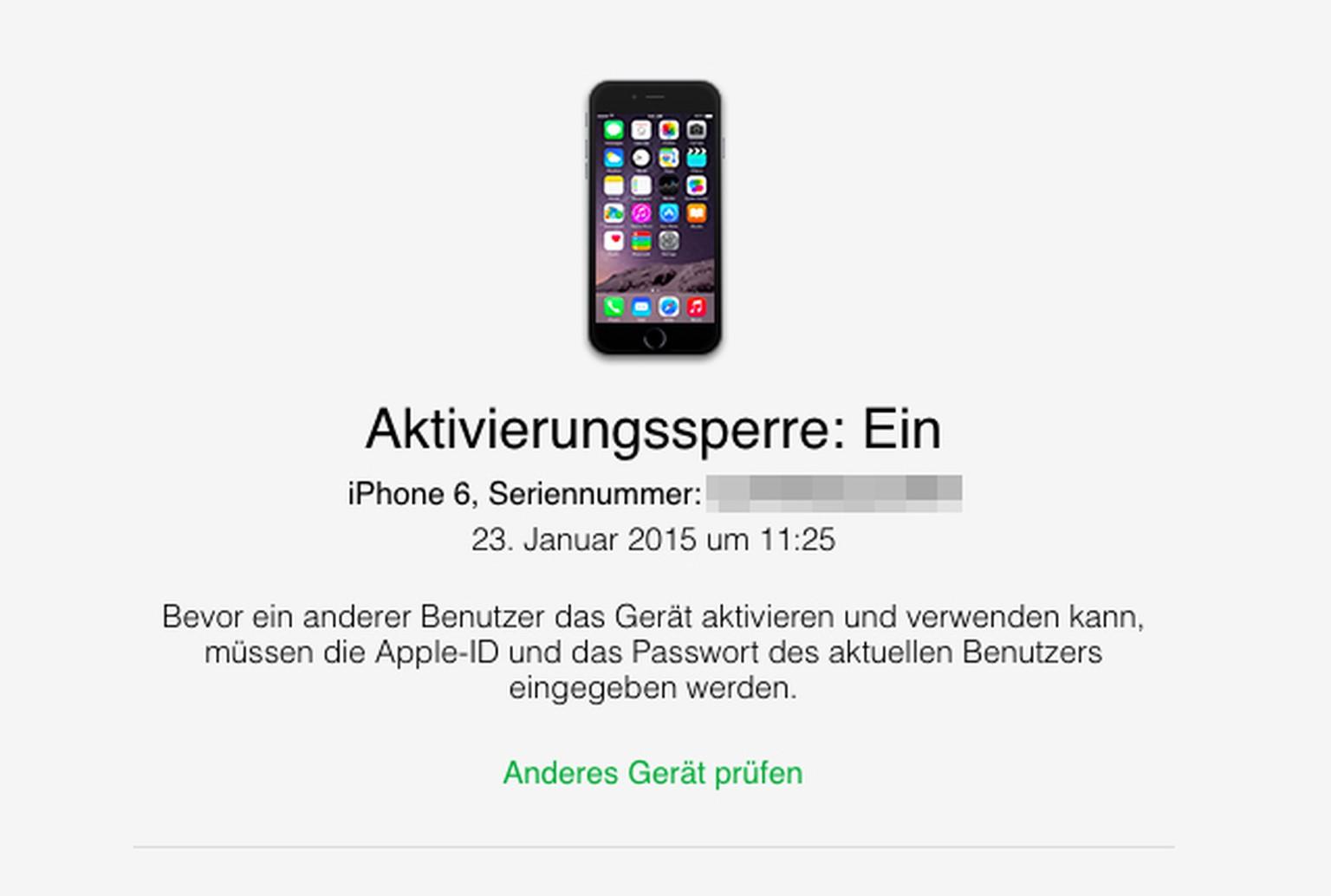 Gesperrte iPhones
