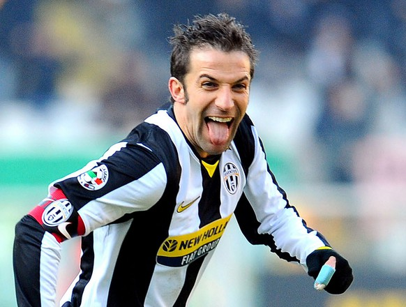 Juventus forward and captain Alessandro Del Piero during a Serie A soccer match between Juventus and Siena at Turin 's Olympic stadium, Italy, Sunday, Jan 11, 2009. (AP Photo/ Massimo Pinca)(AP Photo/ Massimo Pinca)