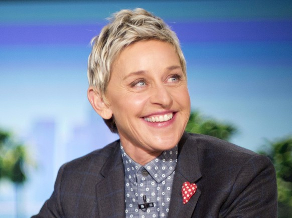 FILE - In this Feb. 11, 2016 file photo, host Ellen DeGeneres appears during a taping of