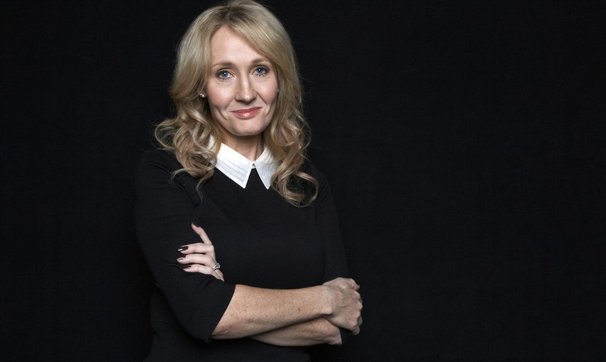 FILE - This Oct. 16, 2012 file photo shows author J.K. Rowling at an appearance to promote her latest book