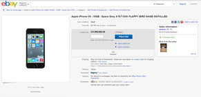 Flappy Bird, Ebay