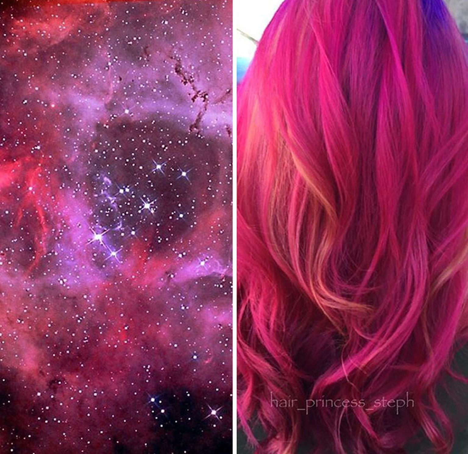 color de cabello galaxia