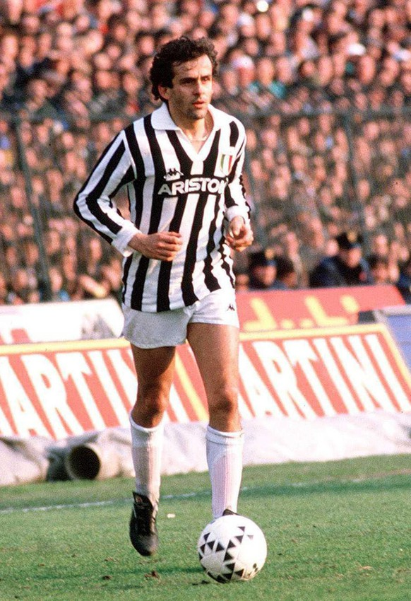 Michel Platini in action for Juventus Turin in 1987. French football great Michel Platini said Tuesday 15 March 2005 he would be a candidate for the presidency of the European Football Union (UEFA) in 2006.