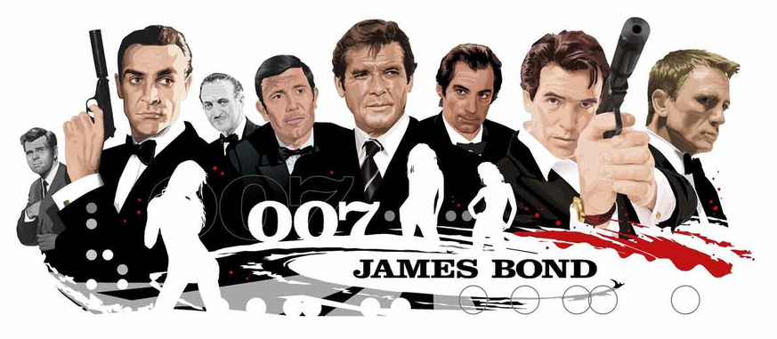 james bond 007 george lazenby david niven sean connery roger moore timothy dalty pierce brosnan daniel craig http://thejamesbondsocialmediaproject.com/