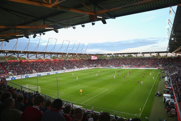 INGOLSTADT, GERMANY - MAY 04:  General view of Audi Sportpark during the Second Bundesliga match between FC Ingolstadt and 1. FC Nuernberg at Audi Sportpark on April 4, 2015 in Ingolstadt, Germany.  (Photo by Alexander Hassenstein/Bongarts/Getty Images)