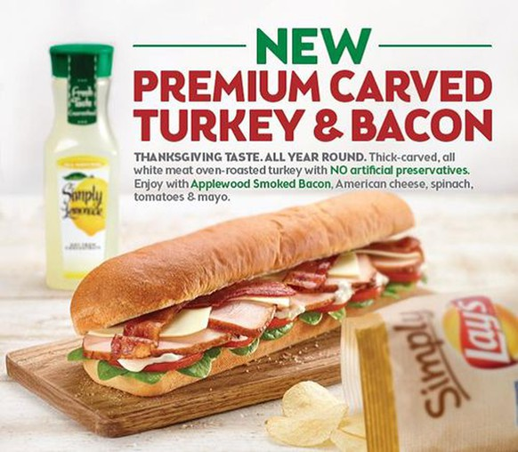Subway Carved Turkey & Bacon 6 Inch