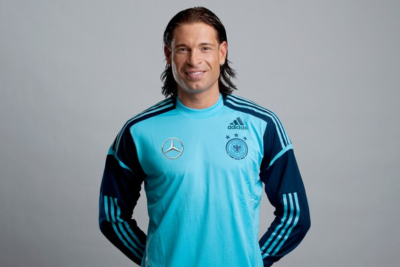 Picture provided by German Soccer Federation (DFB) shows German national soccer team goalkeeper Tim Wiese in Munich on Sunday, Jan.29, 2012. (AP Photo/GES/Oliver Hurst/ pool).