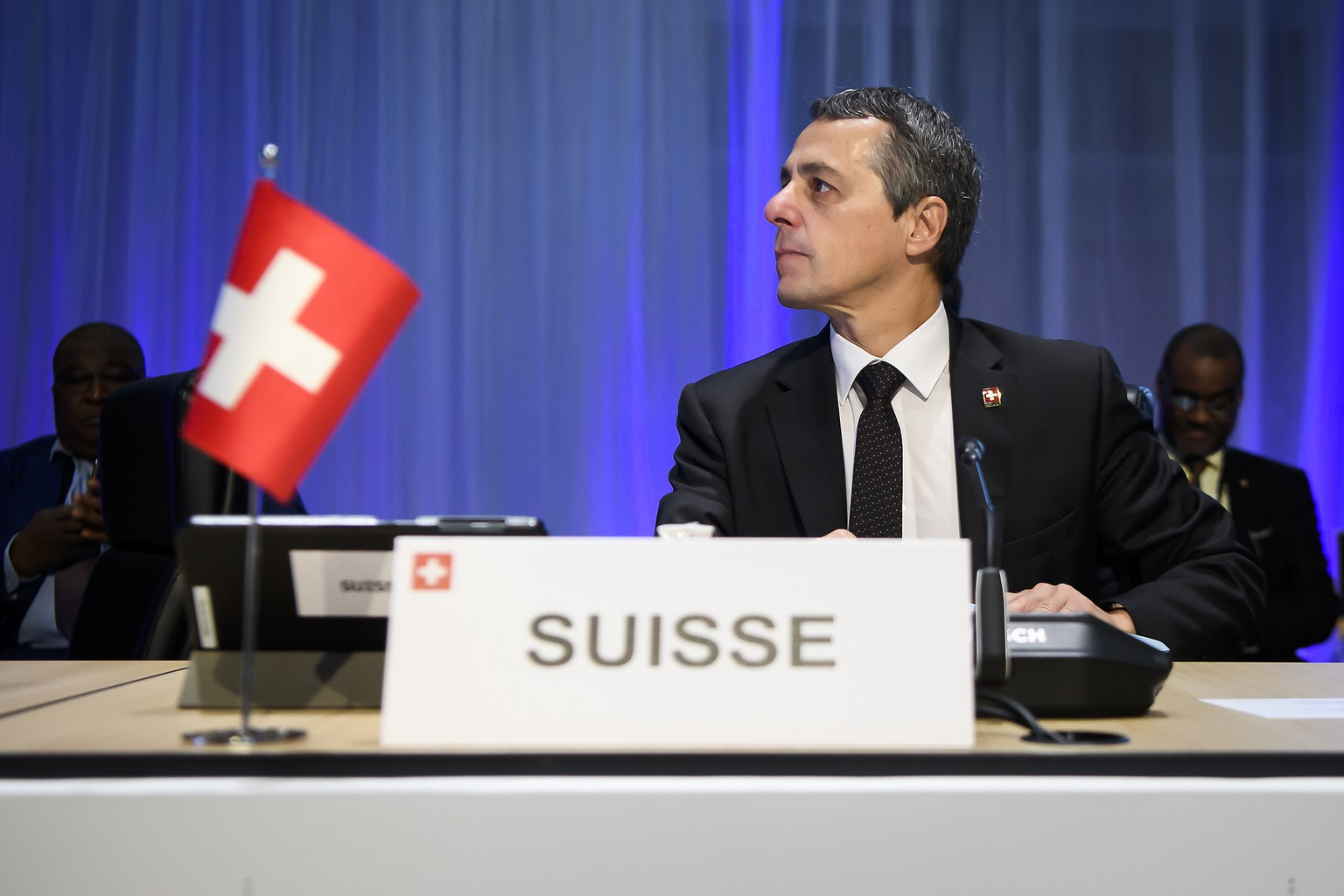 Swiss Federal Councillor Ignazio Cassis, pictured at the Ministerial Conference of La Francophonie in Monaco, Thursday, October 31, 2019. The Swiss Federal Councillor Ignazio Cassis  will attend the annual Ministerial Conference of La Francophonie in Monaco on 30 and 31 October. (KEYSTONE/Anthony Anex)